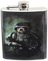 Combat Marine Dog 7oz Flask