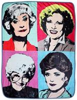 "Golden Girls Warhol Fleece Blanket Comforter | 45""x60"""