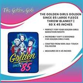 The Golden Girls Golden Since 85 Large Fleece Throw Blanket | 60 x 45 Inches