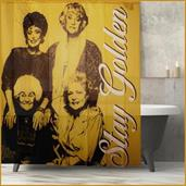 Golden Girls Collectibles | Golden Girls Stay Golden Shower Polyester Curtain