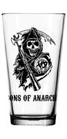 Sons of Anarchy Logo Clear Pint Glass