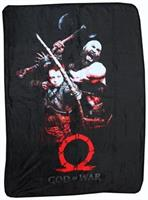 "God of War (2018) Kratos & Son 45""x60"" Fleece Throw Blanket"