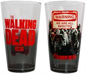 The Walking Dead Zombie Warning Pint Glass 2-Pack