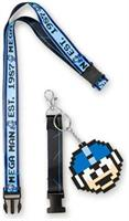 Mega Man collectibles | Mega Man 1987 Lanyard | 8 - Bit Mega Man Charm