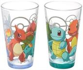 Pokemon 16oz Pint Glass Set of 2 w/ Bottom Spray