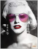 Marilyn Monroe Sunglasses Led Canvas Wall Art