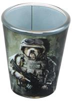 Combat Marine Dog 2oz Shot Glass