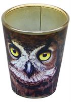Owl Face 2oz Shot Glass