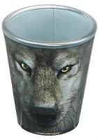Wolf Face 2oz Shot Glass