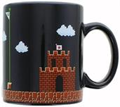 Super Mario Collectibles | Super Mario 8-Bit Boss Black Ceramic Coffee Mug