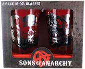 Sons of Anarchy SAMCRO 16oz Pint Glasses, Set of 2