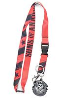 Sons of Anarchy Stars and Stripes Charm Lanyard
