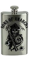 Sons of Anarchy Bullet Holes Logo 6oz Flask