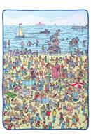 "Where's Waldo On The Beach 45""x60"" Throw Blanket"
