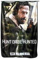 Walking Dead Rick Grimes Hunt Or Be Hunted Lightweight Blanket | 45 x 60 Inches