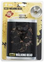 The Walking Dead 8oz Zombie Skull Flask