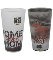 The Walking Dead Home Sweet Home/ Wrong People Pint Glass 2-Pack