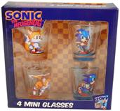 Sonic The Hedgehog Shot Glass Set of 4