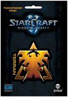 StarCraft II: Wings of Liberty Multi-size Sticker 2-Pack: Terran, Gold