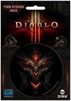 "Diablo III 3"" Round Sticker 2-Pack: Diablo, Lord of Terror"