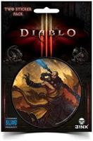 "Diablo III 3"" Round Sticker 2-Pack: Monk Class"