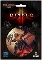 "Diablo III 3"" Round Sticker 2-Pack: Barbarian Class"