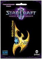 StarCraft II: Heart of the Swarm Multi-size Sticker 2-Pack: Protoss, Yellow