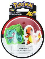 Pokemon Eraser 2-Pack: Bulbasaur and Charmander
