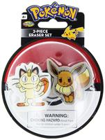 Pokemon Eraser 2-Pack: Meowth and Eevee