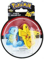 Pokemon Eraser 2-Pack: Pikachu and Squirtle