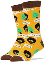 Bob Ross Happy Tree Men's Crew Socks