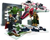 Marvel Avengers Assemble Papercraft Avenjet Aircraft Vehicle Pack