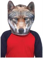 Foam Wolf Head Adult Costume Mask