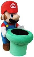 "Super Mario Bros. 9"" Plush: Mario with Warp Pipe"