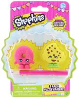 Shopkins 2-Pack Mini Figure Puzzle Erasers