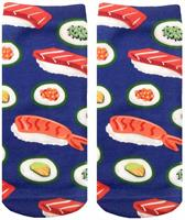 "Sushi ""I Like It Raw"" Photo Print Ankle Socks"