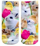Easter Bunnies Photo Print Ankle Socks