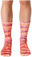 Bacon Photo Print Crew Socks
