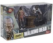 The Walking Dead Deluxe Action Figure Set Morgan Impaled Walker and Spike Trap