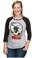 Star Wars Retro Yoda Women's Raglan T-Shirt