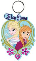 "Disney's Frozen PVC Figural Key Ring: ""Queen Elsa and Anna"""