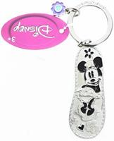 Disney Minnie Mouse Green Flip Flop Pewter Key Ring