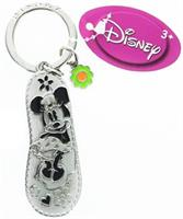 Disney Minnie Mouse Purple Flip Flop Pewter Key Ring