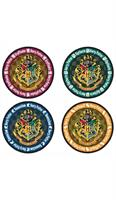 Harry Potter School Crest 4-Piece Coaster Set: Round