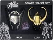 Loki Gold and Thor Pewter Helmet Set Limited Edition
