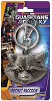 "Marvel Guardians Of The Galaxy Pewter Key Ring: ""Rocket Raccoon (Head)"""