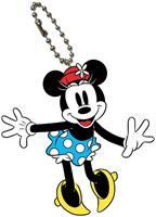 Disney Mickey Mouse Bendable Keychain Minnie Retro