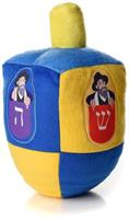 The Mensch on a Bench Plush Dreidel for Hanukkah