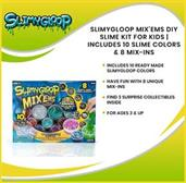 Slimygloop Mix'Ems DIY Slime Kit For Kids | Includes 10 Slime Colors & 8 Mix-Ins