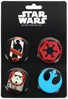 Star Wars Button 4 Pack